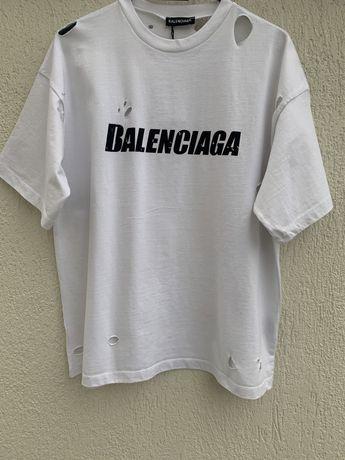 Tricou BALENCIAGA alb unisex Farfetch