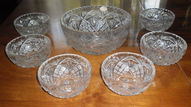 Set 7 boluri cristal de Boemia