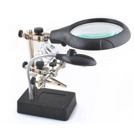Настолна лампа за маникюр с увеличителна лупа EASYHANDY С 5 ЛЕД КРУШКИ