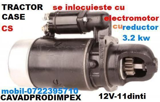 Electromotor cu reductor ptr tractor CASE serie CS 110,130,105,120,80