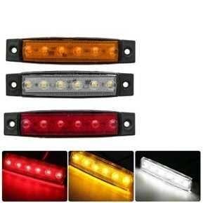 LED Диодни габарити 6 SMD - 3 цвята 12 - 24V