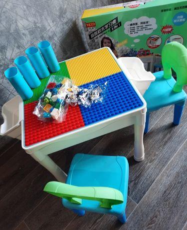 Стол-лего 4в1, 2 стульчика