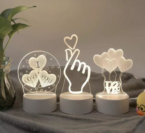 Lampa led love 3 D