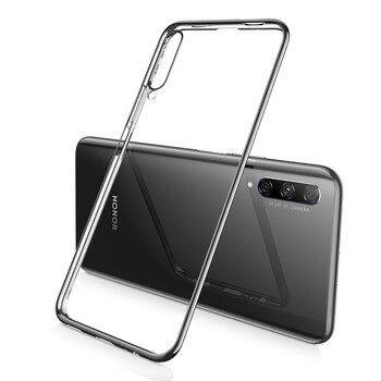 Husa Ultra Slim Silicon Transparenta / Neagra - Huawei P Smart PRO