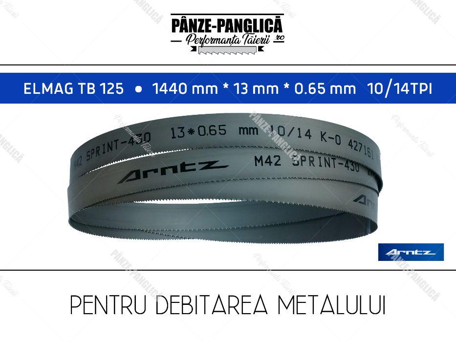 Panza fierastrau panglica metal 1440x13x10/14 M42 banzic ELMAG TB 125 Husi - imagine 1