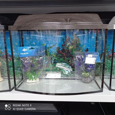 Аквариум в форме телевизора 30 литров с подсветкой