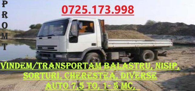 Vindem/Transportam Balast, Nisip, Sorturi, Cherestea, Diverse 1-5 MC