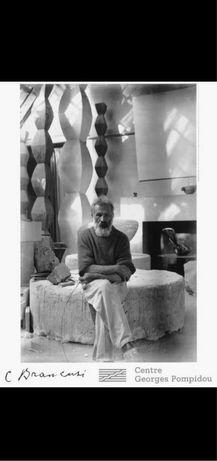 Constantin Brâncuși - Autoportret în atelier - 1957