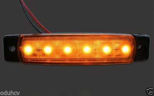 Диоднен ЛЕД габарит LED светлина 6 SMD 6 цвята 12/ 24V