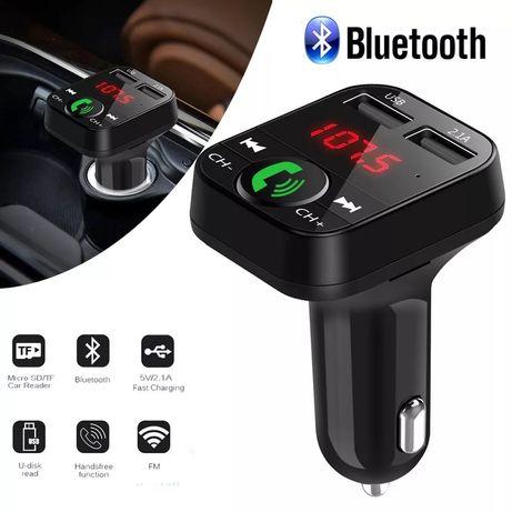 Car Kit Bluetooth Dual USB Cu Casca V6 Plus Wireless