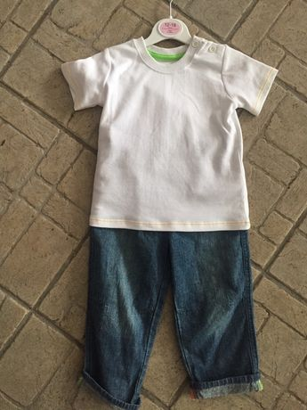 Set tricou+blugi copii 1-2ani