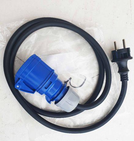 Cablu de alimentare 220 V pentru rulote, 3x2,5, 1,5 M