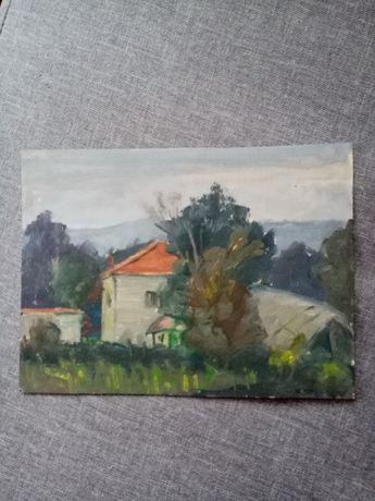 Картини маслени бои от 60-те години, рисувани на картон, без рамки.