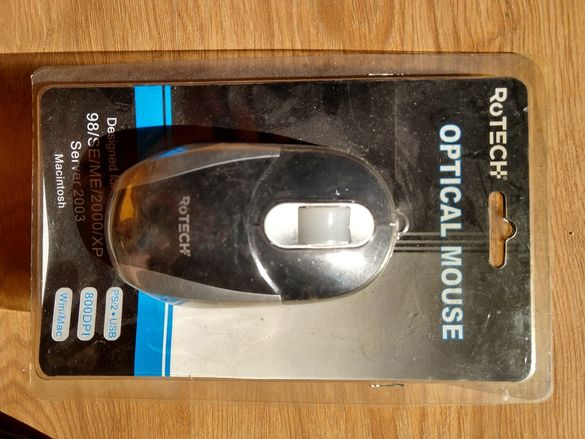 Оптична мишка Rotech Negru Usb 50009