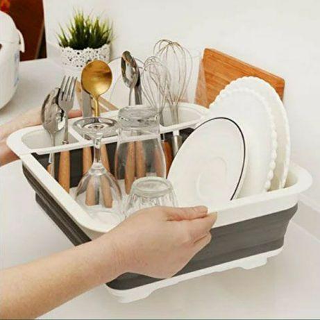 СУШИЛКА для посуды. Складная,  легкая,  компактная,  вместительная!