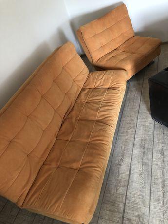 Canapea extensibila textil portocaliu