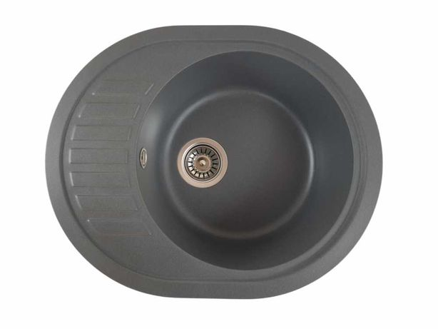 Chiuveta ovala granit bucatarie MIXXUS Picurator mic, GRI lavoar