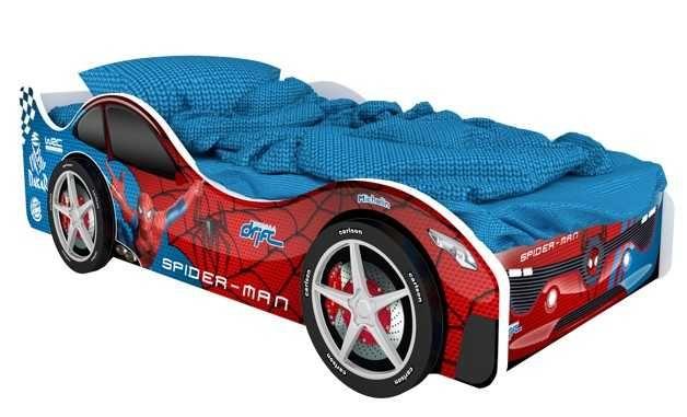 Детская кровать машина Марвел