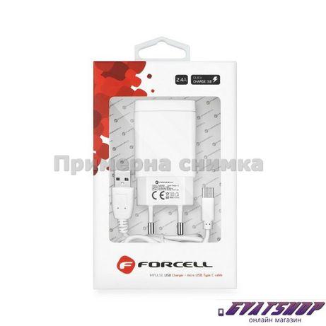 Зарядно устройство Forcell с USB гнездо тип-C - 2,4A Quick Charge 3.0