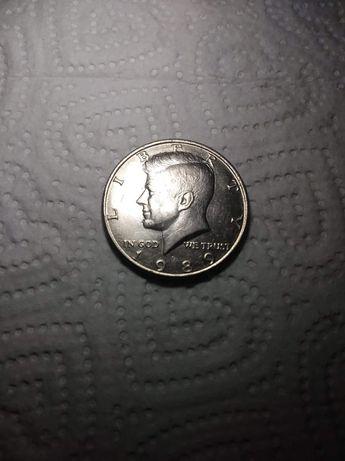 Moneda half dolar 1989