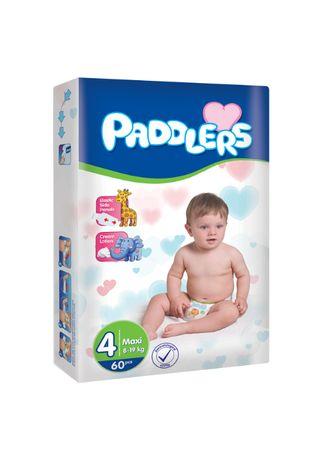 Scutece copii, Paddlers, 60buc/set,Marime 4, Maxi, 8-18 Kg, 8-18 luni