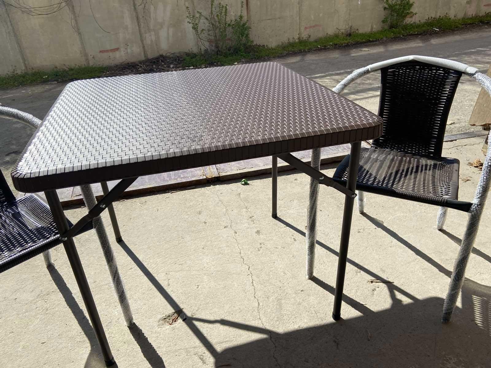 Градинска маса от изкуствен ратан + 2 Стола