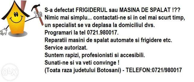 Service Frigidere & Masini de spalat Botosani