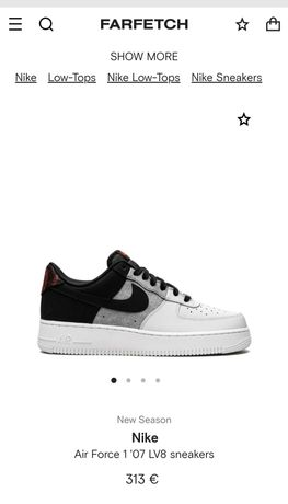 Nike AF1 Low 07 Black Smoke Grey 43