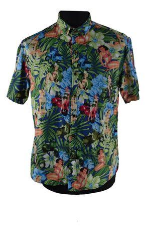 Camasa Barbati Sur Club Marimea M Slim Multicolora Casual Hawaii XO42