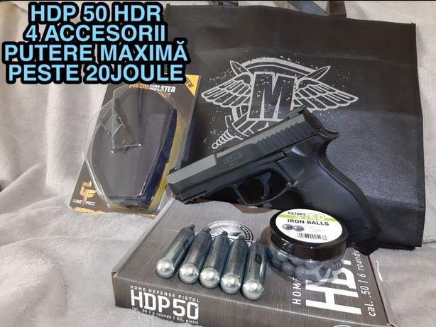 HDR 50 HDP Autoaparare Paza Protectie 20j Bile Cauciuc Revolver Pistol