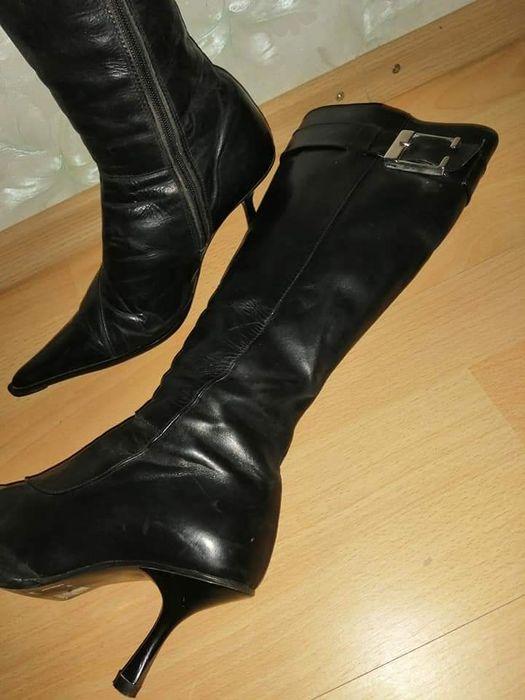 Cizme negre elegante Mangalia - imagine 1