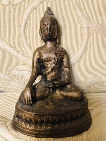 Statueta Budha din bronz masiv