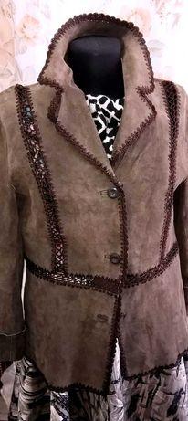 Куртка - Пиджак женская, натуралн. кожа - замша, 44-46 разм. Недорого!