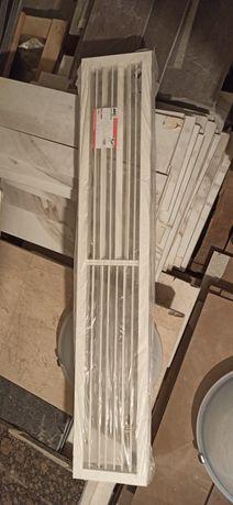 Grila aer conditionat aluminium alba