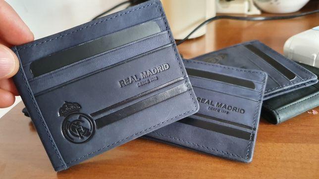 Portmoneu Portofel PortCard Real Madrid piele veritabilă