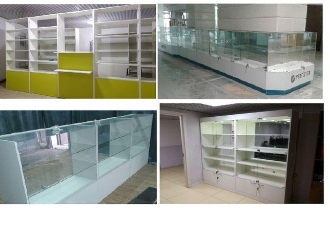 торговое оборудование стеклянные витрины аптек островок на заказ