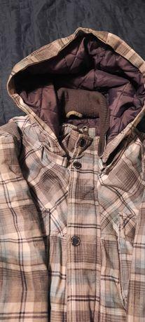 зимно мъжко яке с качулка(текстил) - XL