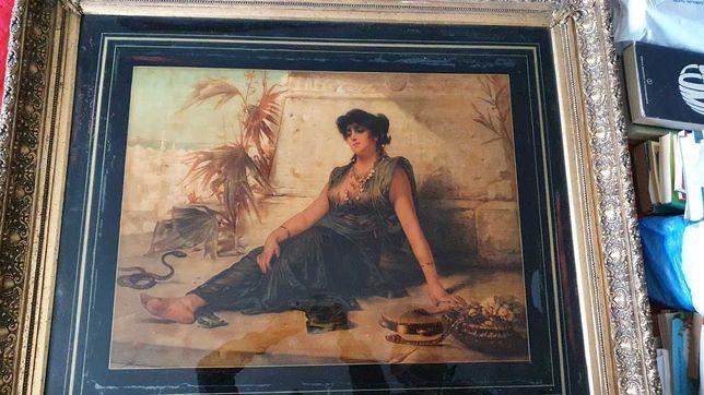 Tablou Nathaniel Sichel - Cleopatra regina egiptului