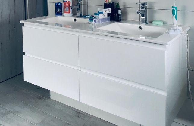 Set baie-mobilier dublu / 120 cm