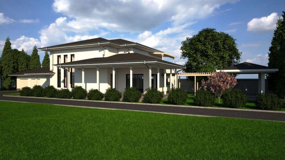 Teren Corbeanca, 5000 mp, 22 ml front, propunere proiect case