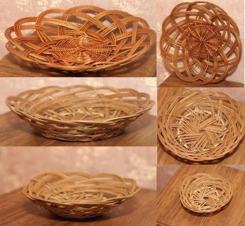 Плетеная тарелка.основа для подарка заполни её на свое усмотрение