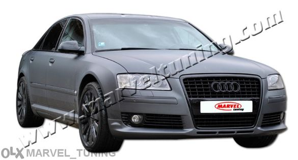 Спойлер (тунинг добавка) тип Audi S8 за предна броня за Audi A8 фейсли