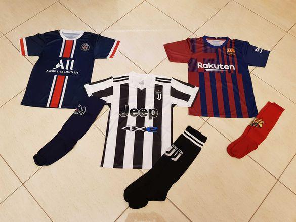 Детски футболен екип  Неймар. Меси, Роналдо, Мбапе, Салах Нов