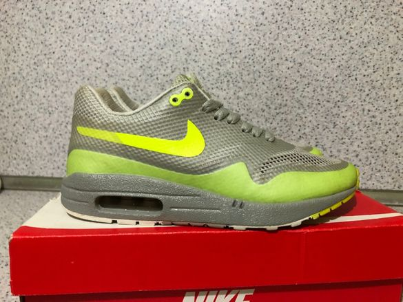 ОРИГИНАЛНИ *** Nike Air Max 1 Hyperfuse Prm / Grey / Volt Green