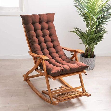 Balansoar de terasa / scaun living, lemn rezistent + perna maro