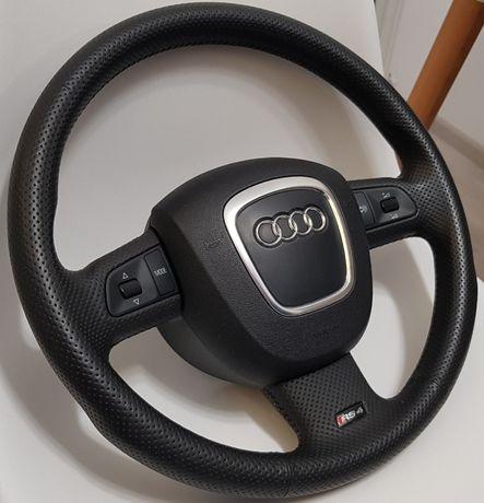 Volan Audi RS4 B7 piele perforata original(nu s line nu A4) airbag