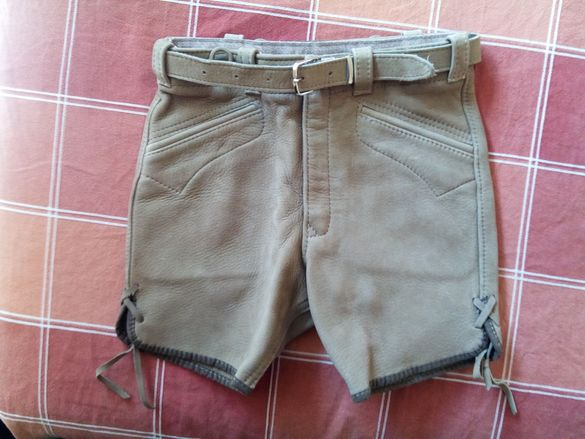 Детски кожени панталони с колан