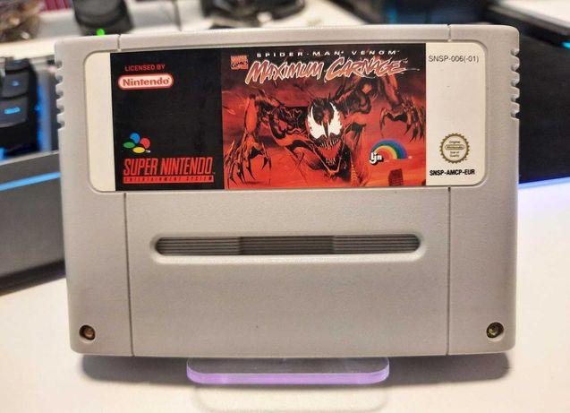 Joc Spider-Man V.M.C.original, retro, pt. Consola Super Nintendo, Snes
