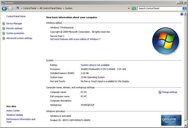 Unitate desktop PC Intel Pentium 4, 2x3Ghz, 2Gb RAM, Nvidia RIVA TNT2