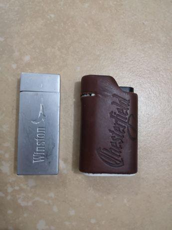 Tabachera metalică și brichete